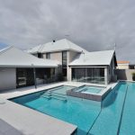 Concrete Pool Spa and Water Feature