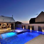 Concrete Pool Night